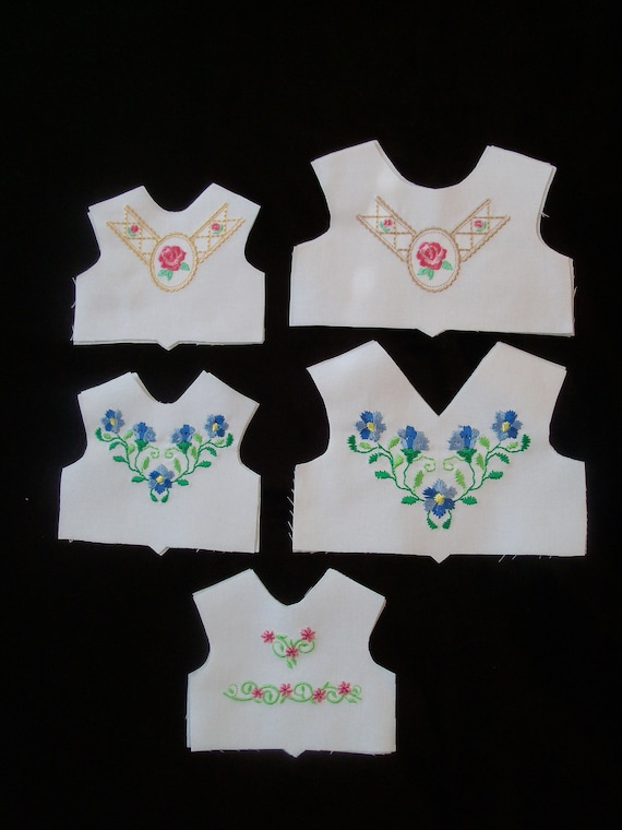 14 and 18 Inch size / Farmcookies Embroidered  Bodice Front  / Lining Included / Clothes for American Girl Doll