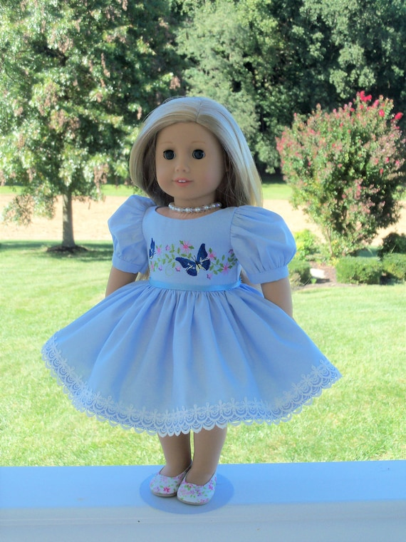 Fits Like American Girl Doll Clothes / Farmcookies 18 Inch Special Occasion Doll Dress / 18 Inch Doll Clothes For American Girl