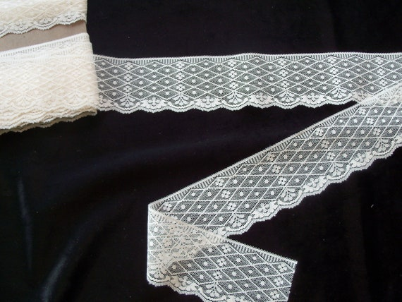 """Doll Clothes Lace / 4 Yards  Exquisite Cream Flat Lace / Sewing for 18"""" American Girl Doll Clothes"""