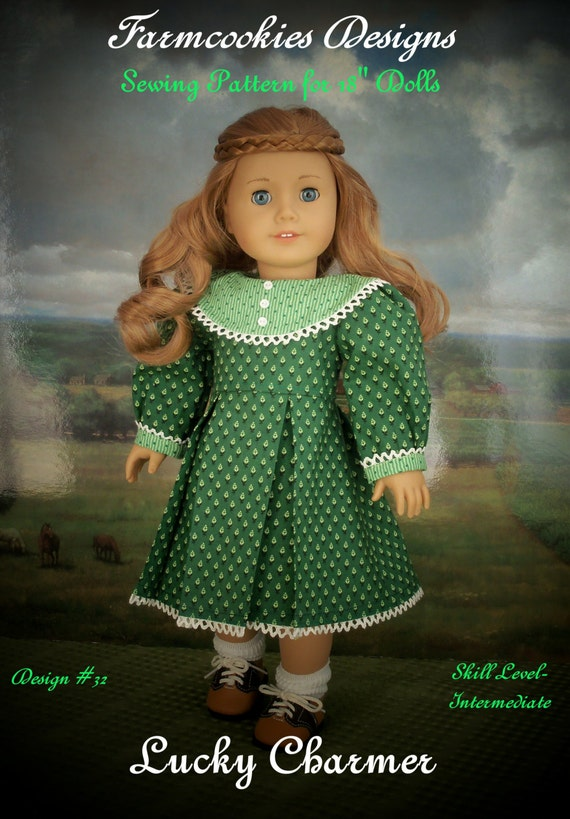 PRINTED Sewing Pattern  / Lucky Charmer / Dolls Clothes Sewing Fits American Girl or Other 18 Inch Dolls
