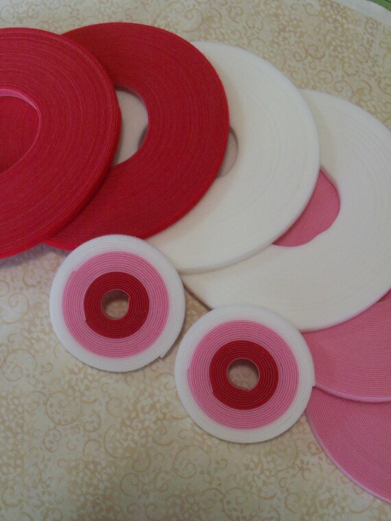Doll Clothes VELCRO® Brand Hook and Loop / 5 Yard Sweetheart Pack of Genuine Ultra Thin Doll Clothes VELCRO® Brand  Low Profile Hook & Loop