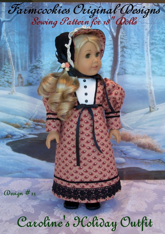 PDF Sewing PATTERN /Caroline's Holiday Outfit / Clothes That Fit American Girl ®Caroline or Josephina