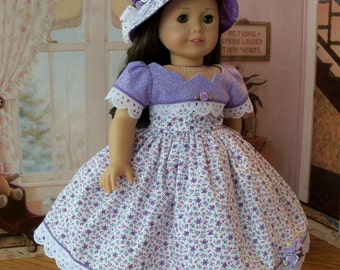 """PDF SEWING PATTERN / Love in Bloom  / Fits American Girl® or Other 18"""" Dolls"""