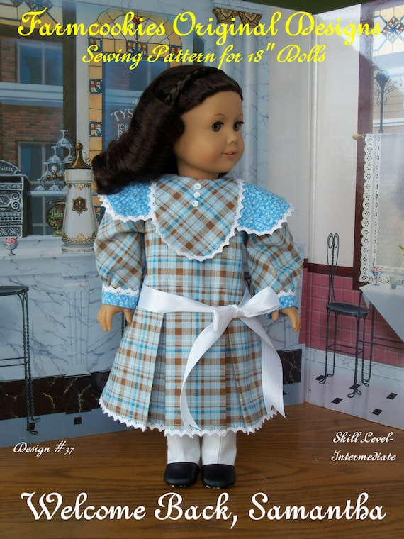 "PDF Sewing Pattern / Welcome Back, Samantha! / Patterns Fits American Girl  or other 18"" Dolls"