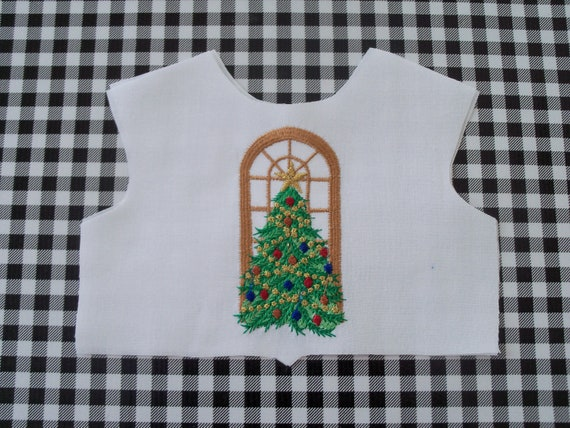 "18 Inch size / Farmcookies Embroidered  Bodice Front  / Lining Included / Christmas Embroidery /Sewing for 18"" American Girl Doll Clothes"