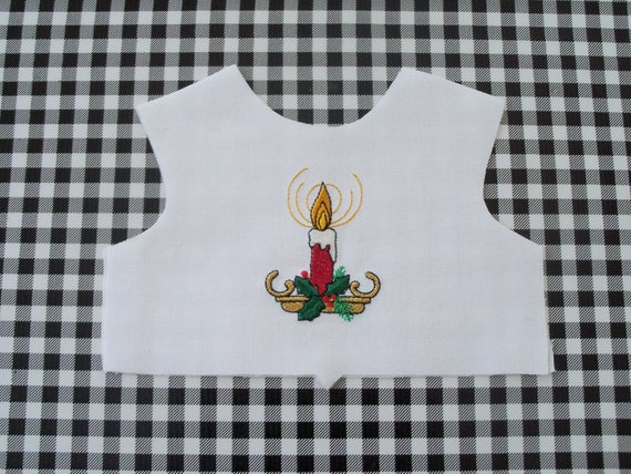 "18 Inch size / Farmcookies Embroidered  Bodice Front  / Lining Included / Sewing for 18"" American Girl Doll Clothes"