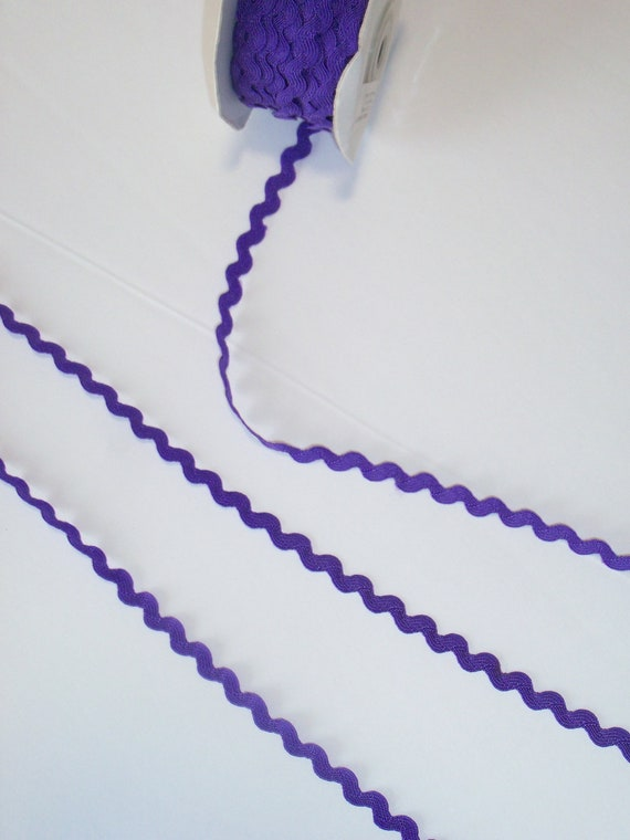 "5 Yards Royal Purple  3/8"" wide Nylon Rick Rack Trim / Farmcookies Doll Clothes Sewing Trims for American Girl Doll Clothes"