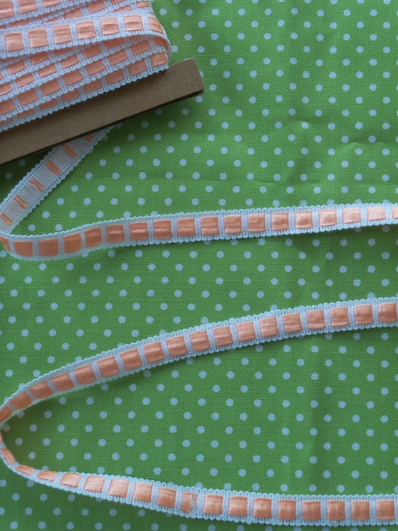 4  Yards Peach  Insertion Crochet Trim for  Doll Clothes
