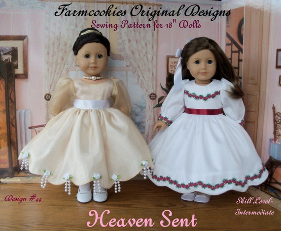 "PDF Sewing Pattern / HEAVEN SENT /  18 Inch Doll Clothes Pattern fits American Girl or Other 18"" Dolls"