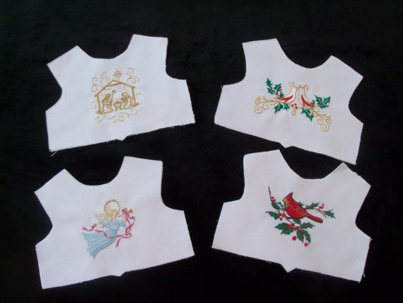 18 Inch size / Farmcookies Embroidered Christmas Bodice Fronts  / Linings Included / Clothes for American Girl Doll