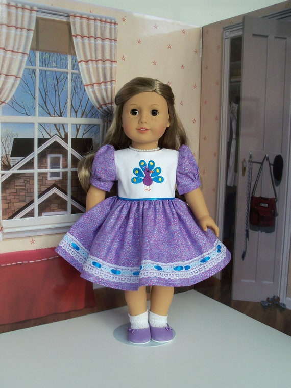 18 Inch DOLL CLOTHES / Embroidered Dress / Fits American Girl and other 18 Inch Doll