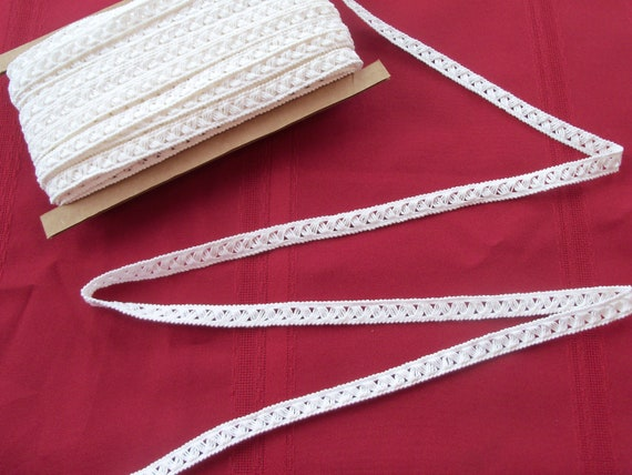 """Doll Clothes Lace / 4 Yards Cluny Crochet Lace / Sewing for 18"""" American Girl Doll Clothes"""