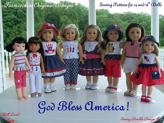 2 Sizes! PDF Sewing Pattern/ Fits Like 18 Inch American Girl Doll ...