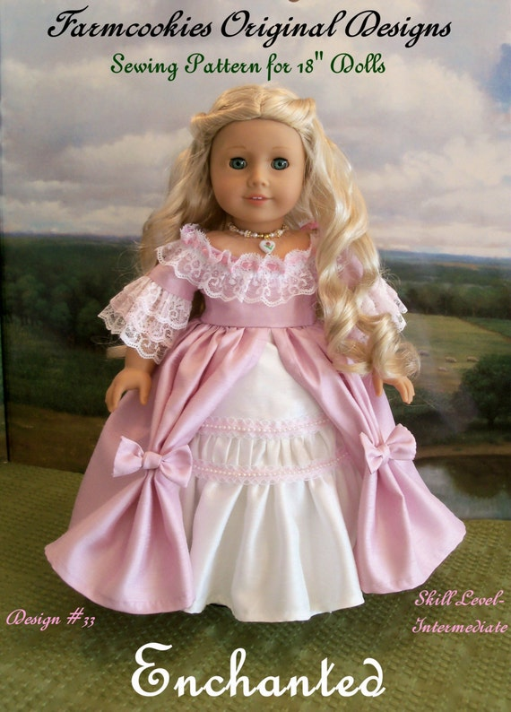 "PDF Sewing Pattern/ ENCHANTED  / Sewing Patterns Fits 18"" American Girl® Dolls"