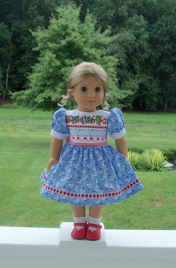 Like American Girl Doll Clothes / Embroidered Dress / 18 Inch Doll Clothes by Farmcookies  fits American Girl