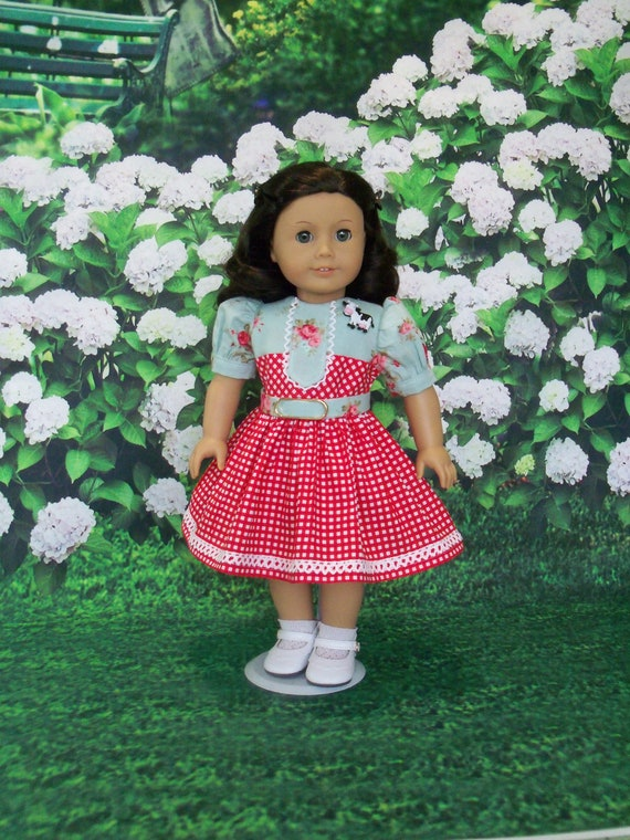 Fits Like American Girl  Doll Clothes /  Spring Country Girl Dress by Farmcookies / 18 Inch Doll Clothes For American Girl