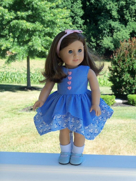 Like American Girl Doll Clothes / Handkerchief Style Doll Dress / 18 Inch Doll Clothes by Farmcookies  fits American Girl