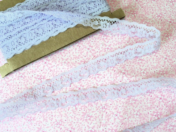 """Doll Clothes Lace / 4 Yards Beautiful Lavender Scalloped Lace / Sewing for 18"""" American Girl Doll Clothes"""