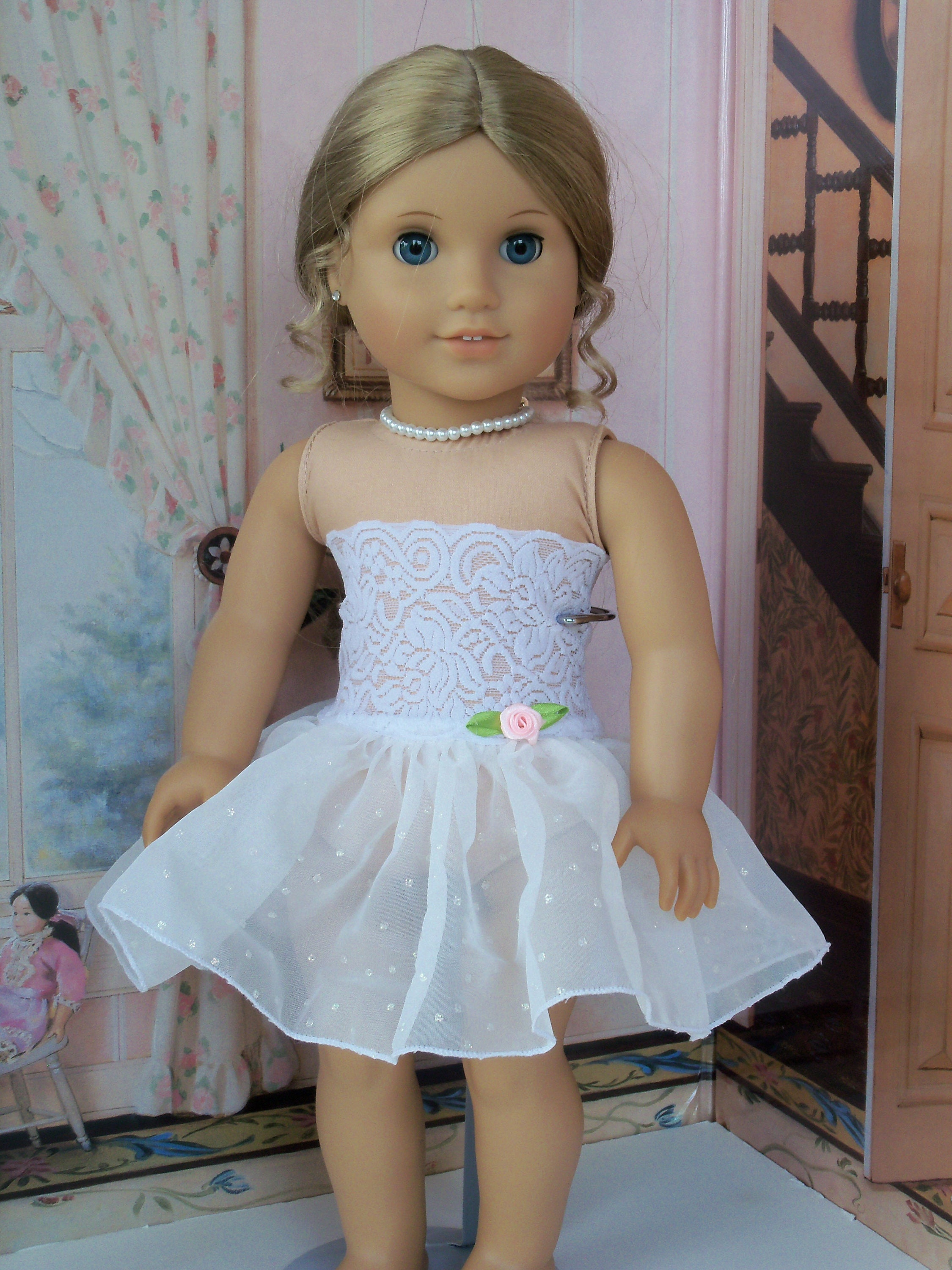Like American Girl Doll Clothes Fancy Slip With Attached