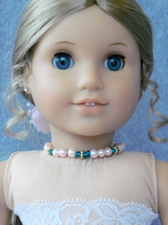 """Bead Choker Necklace for American Girl or Other 18""""  Dolls"""