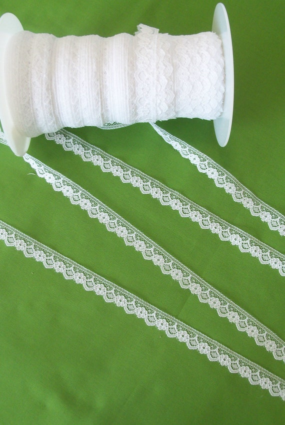 "5 Yards 1/2"" wide  Scalloped  Lace  for  Doll Clothes / Farmcookies 18 Inch Doll Clothes Trims for American Girl Doll"
