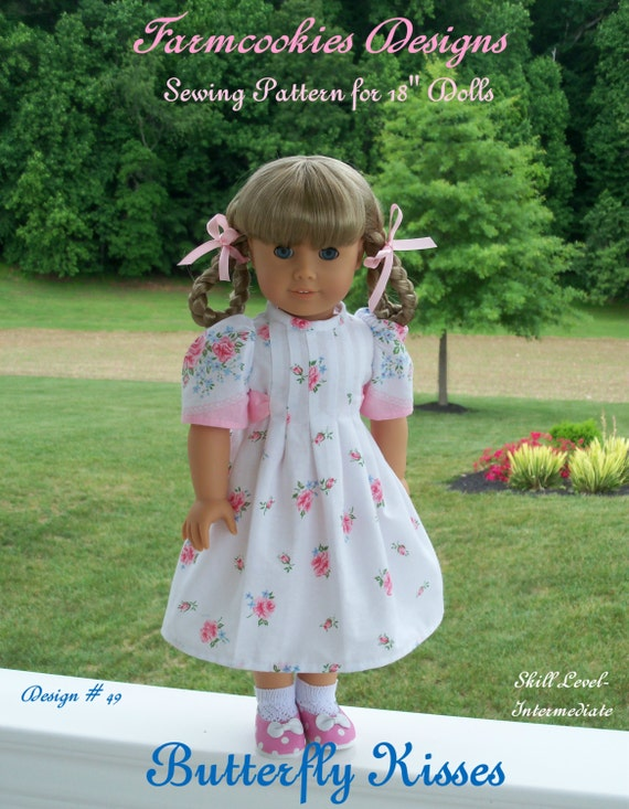 Like American Girl Doll Clothes PRINTED Sewing Pattern / Butterfly Kisses /  18 Inch Doll Clothes for American Girl® Doll