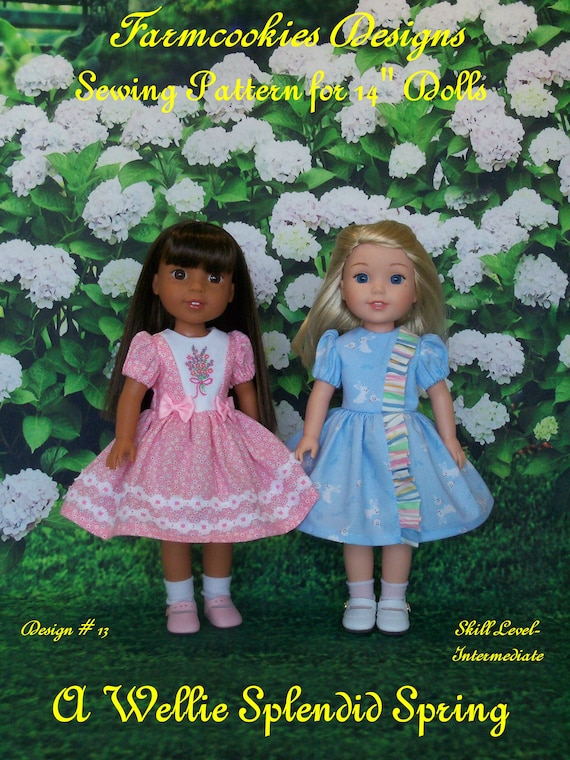 14 Inch Size / PRINTED SEWING PATTERN for Doll Clothes / A Wellie Splendid Spring !  /  for American Girl Wellie Wisher ®