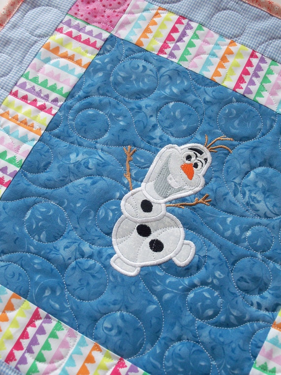 "Farmcookies Olaf Frozen Snowman Keepsake Doll Quilt for 18"" American Girl Doll / Like American Girl Doll Clothes and Bedding"