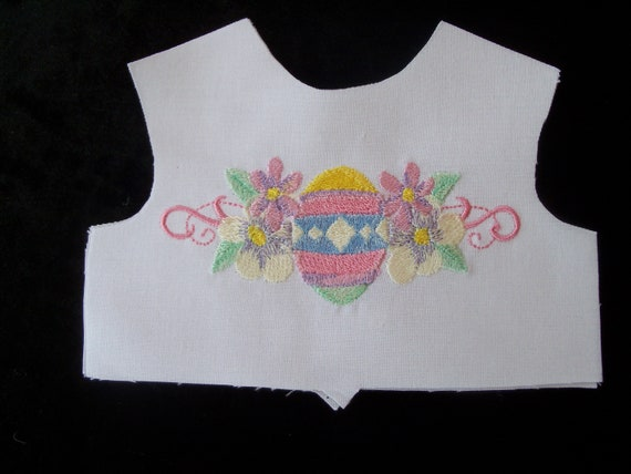 "18 Inch size / Farmcookies Embroidered Easter Bodice Front  / Lining Included / Sewing for 18"" American Girl Doll Clothes"