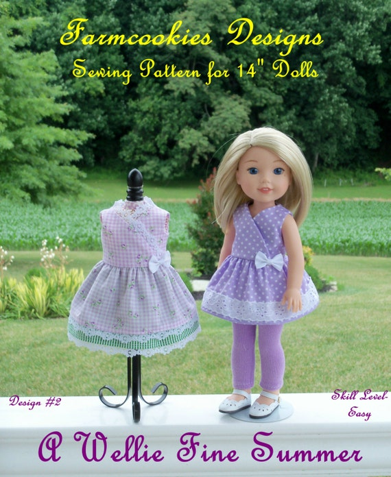 "WELLIE WISHER® PRINTED Sewing Pattern: A Wellie Fine Summer! / Sewing Pattern for 14"" American Girl  Wellie Wishers®"