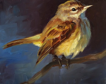 Palm Warbler - Bird Painting - Open Edition Print of Original Oil Painting