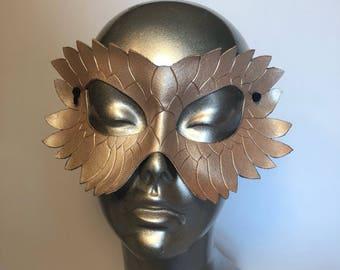 Ebyon Dragon Masquerade Renaissance Faire Mask - pearl