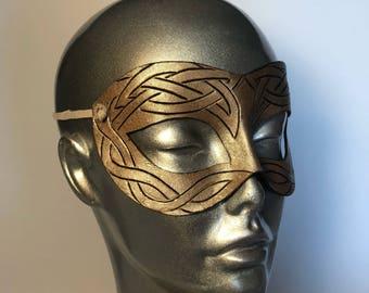 Celtic Knotwork Masquerade Fairy Fae Mask