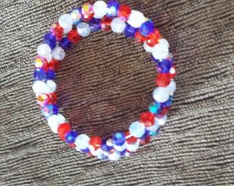 Red, White, & Blue Bracelet