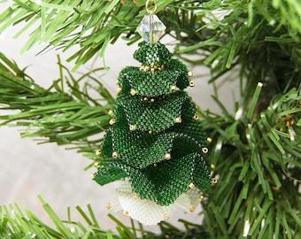 Beading Pattern - Tutorial - PDF download - Christmas Tree - Christmas Ornament - Peyote Stitch - 'Ruffles'
