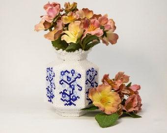 Beading Pattern - Tutorial -  Ornament - The River Vase - Peyote - PDF download