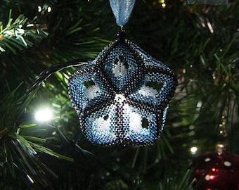 Beading Pattern - Tutorial - PDF download - Catch a Falling Star - Christmas Ornament - Peyote Stitch