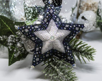 Beading Pattern - Starlight - Star - Christmas - tutorial - PDF download - Peyote