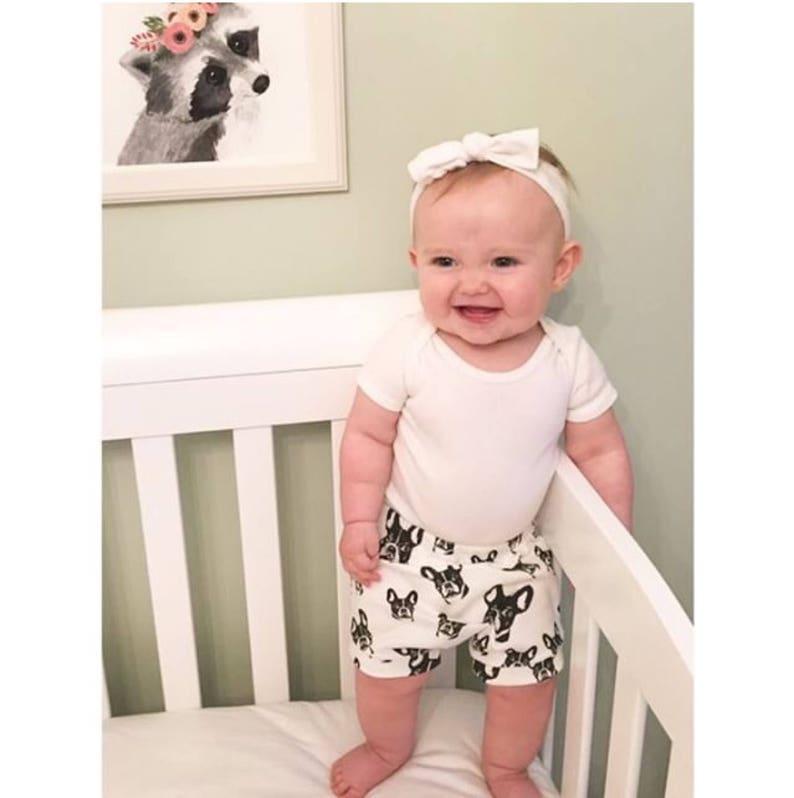 9b730fcaf French Bulldog Organic Baby Shorts Frenchie Baby Bloomers | Etsy