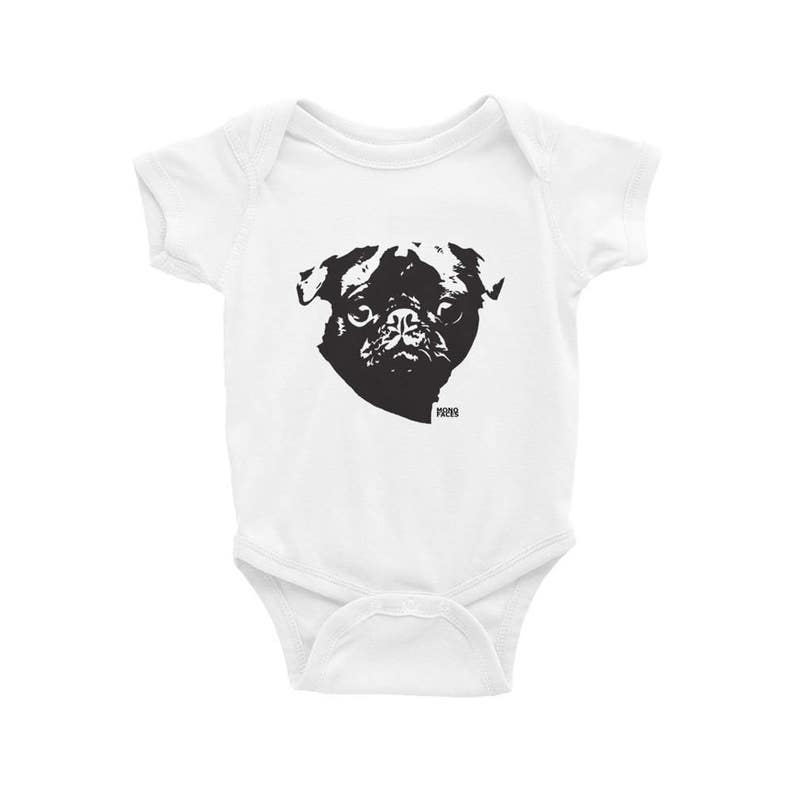 bfc5208da Pug Baby Bodysuit Baby Clothes With Dogs Baby Girl Onepiece | Etsy