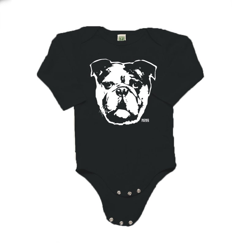 34736f952 Bulldog Baby Clothes Organic Baby Bodysuit For Baby Girl | Etsy