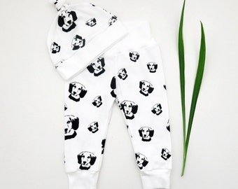 Beagle Baby Organic Cotton Baby Leggings And Hat, Newborn Organic Leggings, New Baby Girl Gift, New Baby Boy Clothes, Beagle Owner Gifts
