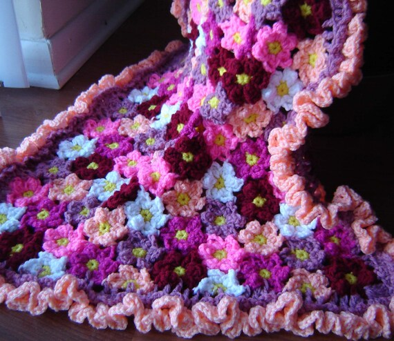 Pdf Instant Download Crochet Pattern No 272 Flower Baby Etsy