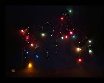 noma xmas lights christmas lighting xmas lights 20 light strand vintage xmas lights christmas decor holiday lighting