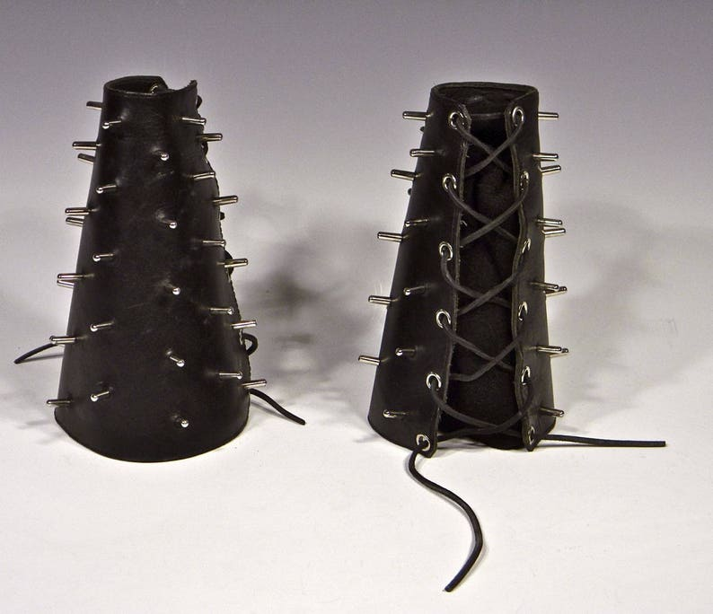 Arm Gauntlets Studded Belt Custom Leather Leather Accessories Gay Interest Cos Play Leather Fetish Costume Studded Leather