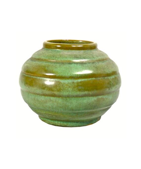 Early Frankoma Frankoma Pottery Mini Ringed Vase Art Etsy