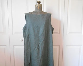a3d16a1633 Vintage army green Linen Eileen Fisher maxi dress and Jacket