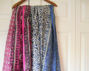 Vintage India silky Sari fabric LOT