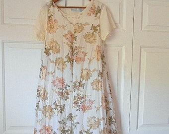 Vintage India cotton 90's grunge Dress