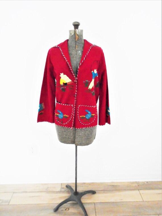 Vintage Rare find 40's wool Mexican souvenir Jacke